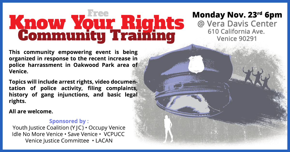 KNow Your Rights Community Training